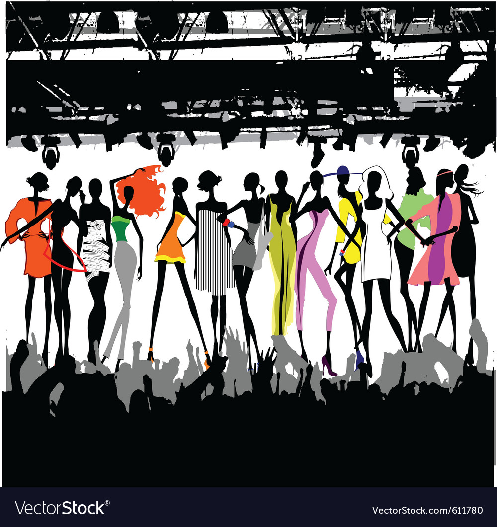 Clip art for fashion show 83