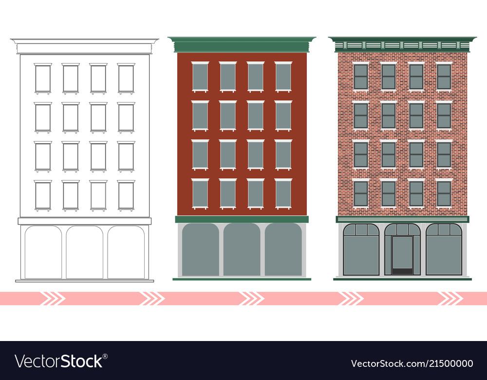 A classic american brick multi-storey house