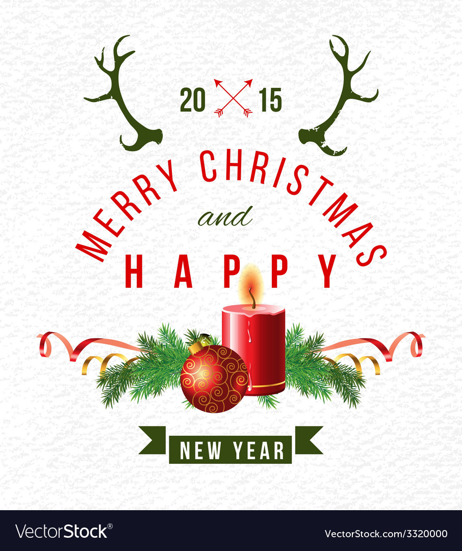 Christmas background with type design