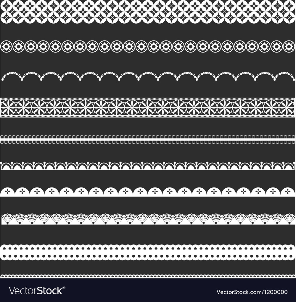 Decorative Lace Borders vector image