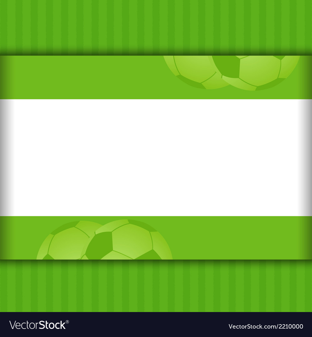 Football border background on green royalty free vector football border background on green vector image voltagebd Image collections