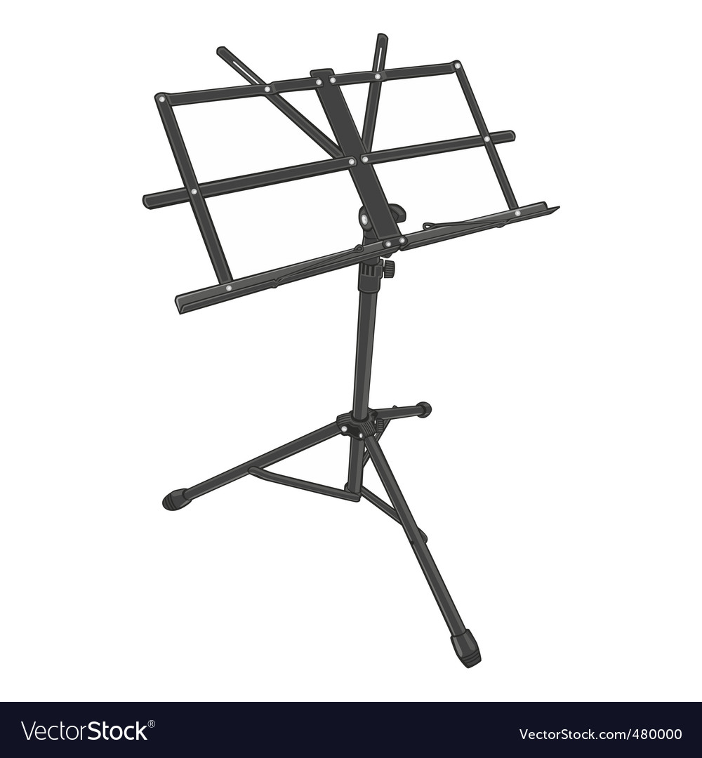 Music Stand Royalty Free Vector Image Vectorstock