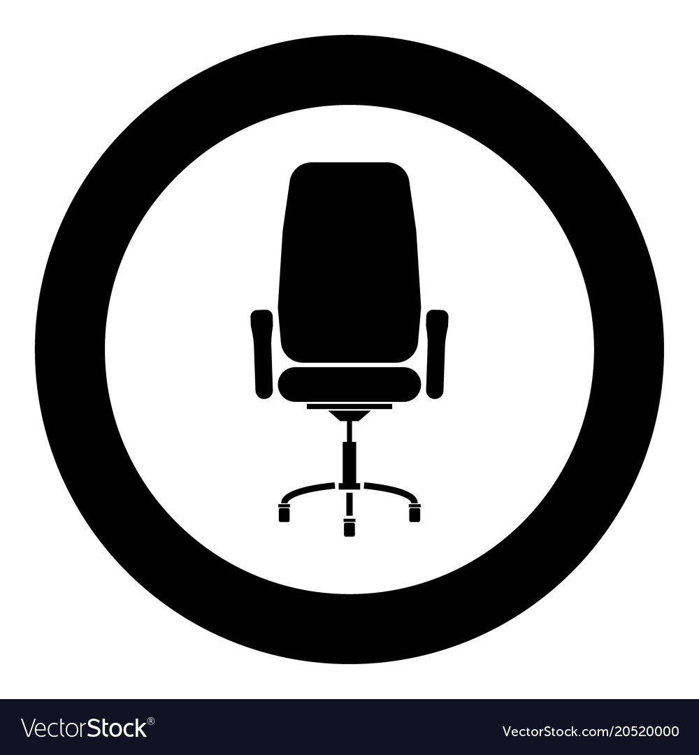 Incroyable Office Chair Icon Black Color In Circle Vector Image