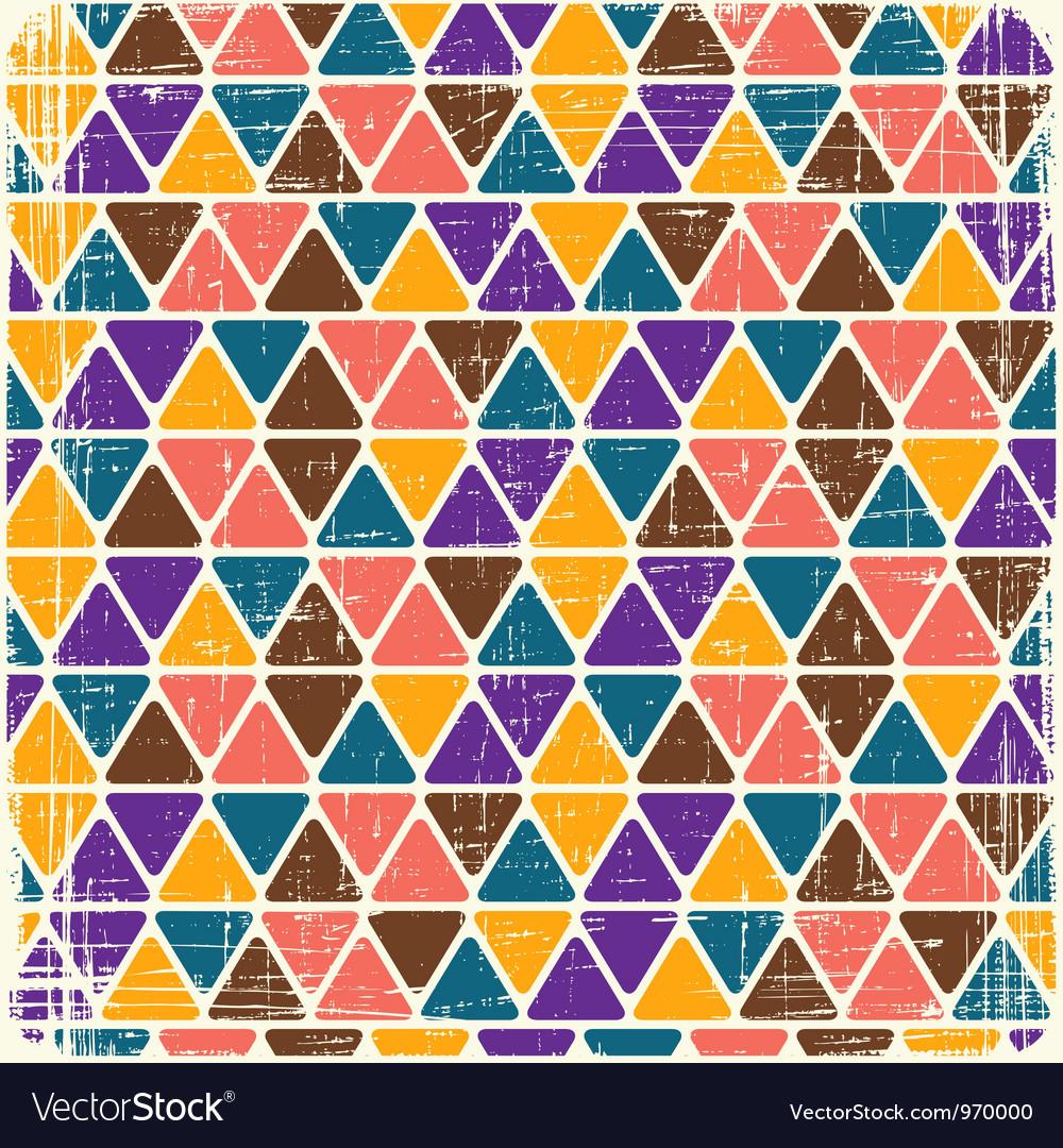Retro seamless geometric pattern