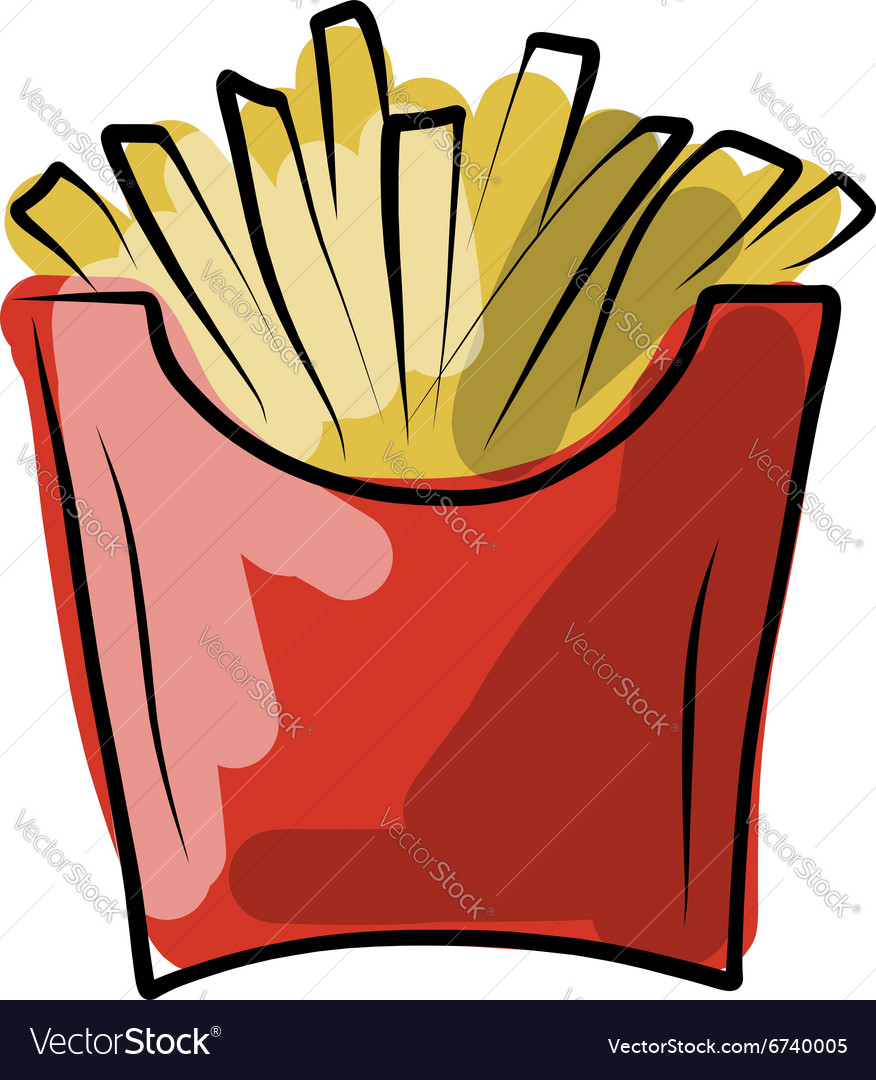 French fries sketch for your design