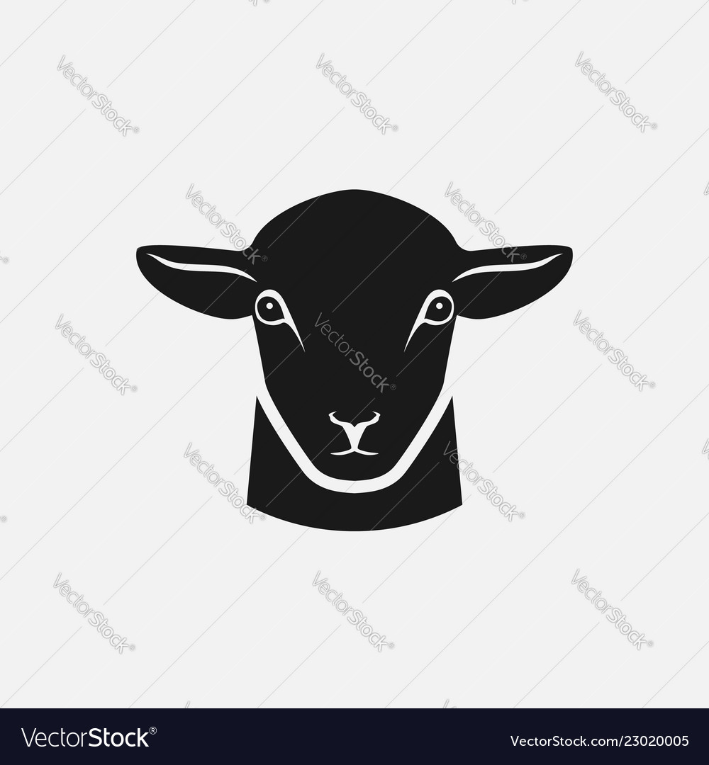 Head of sheep silhouette