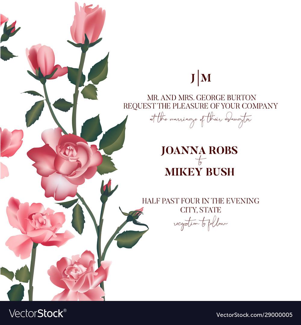 Rose flower bouquet pink roses bridal design