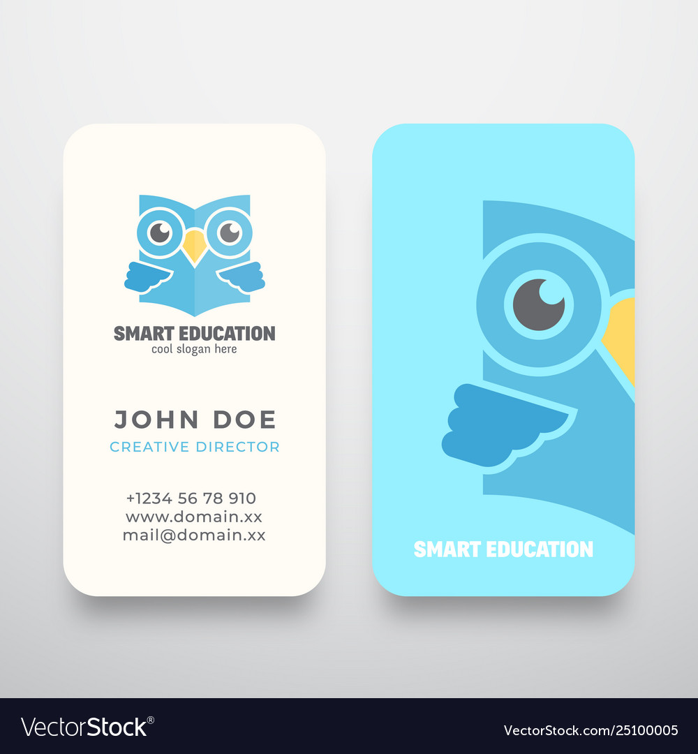 Smart education abstract sign or logo and