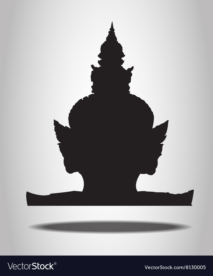 Thai Giant Silhouettes on the white background