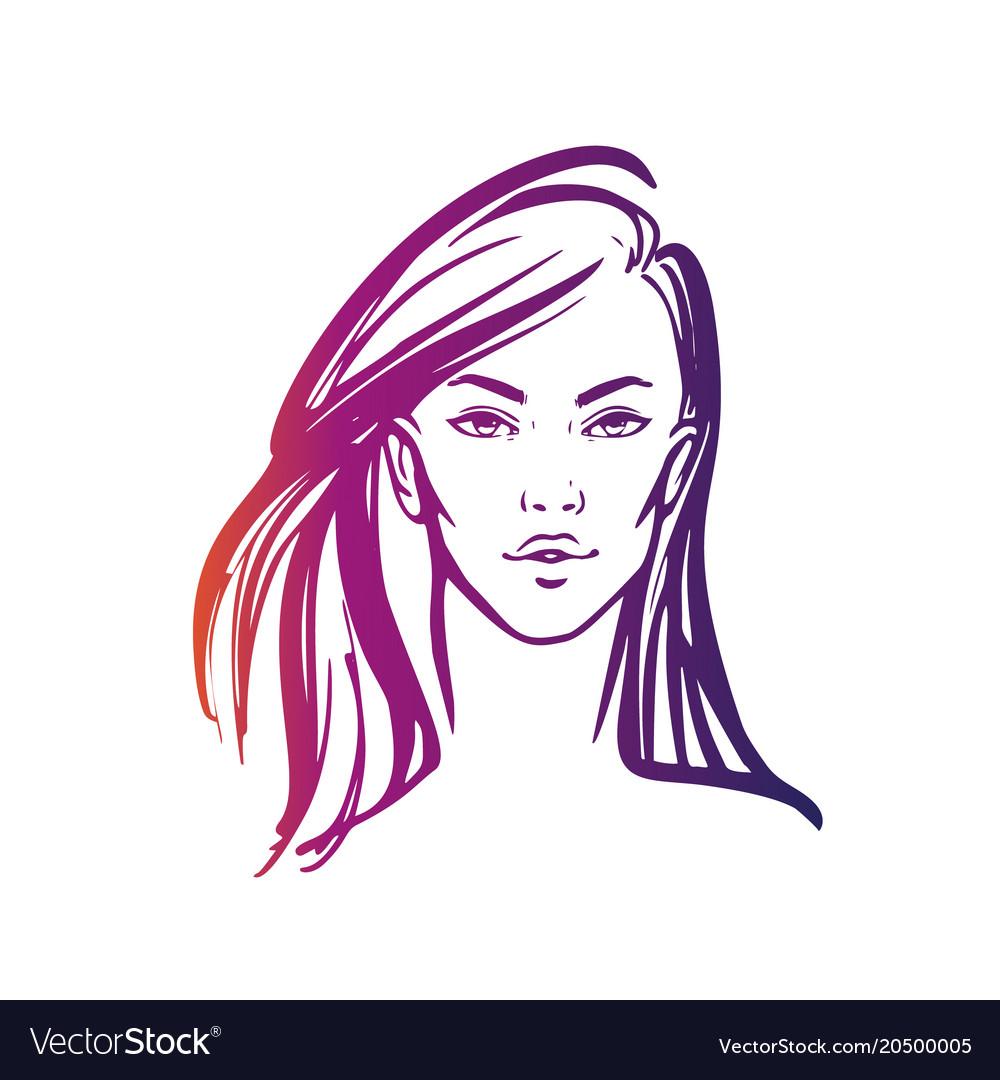 Hair Logo Women Long Vector Images Over 580