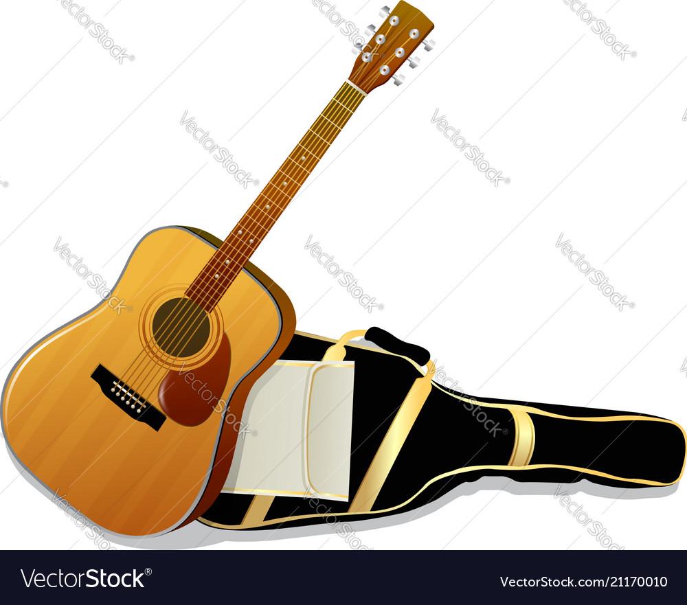 Acoustic guitars isolated on white background