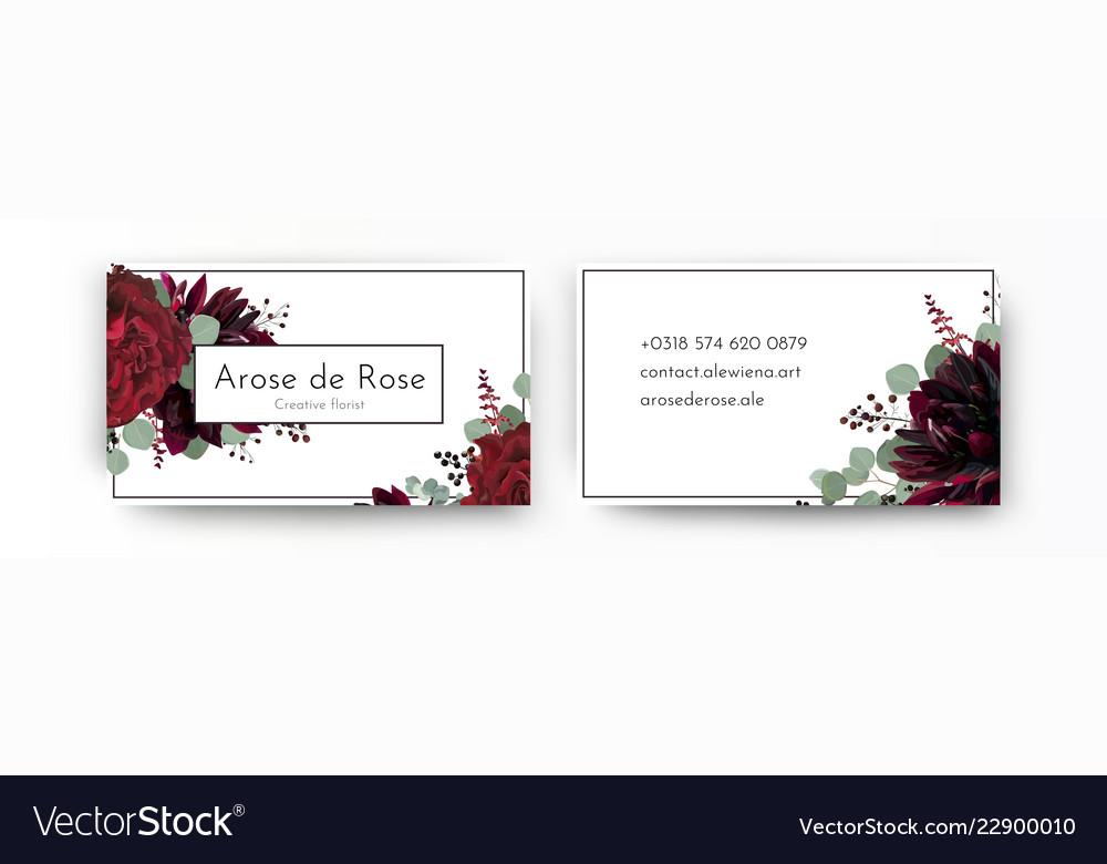 Business card elegant modern design template