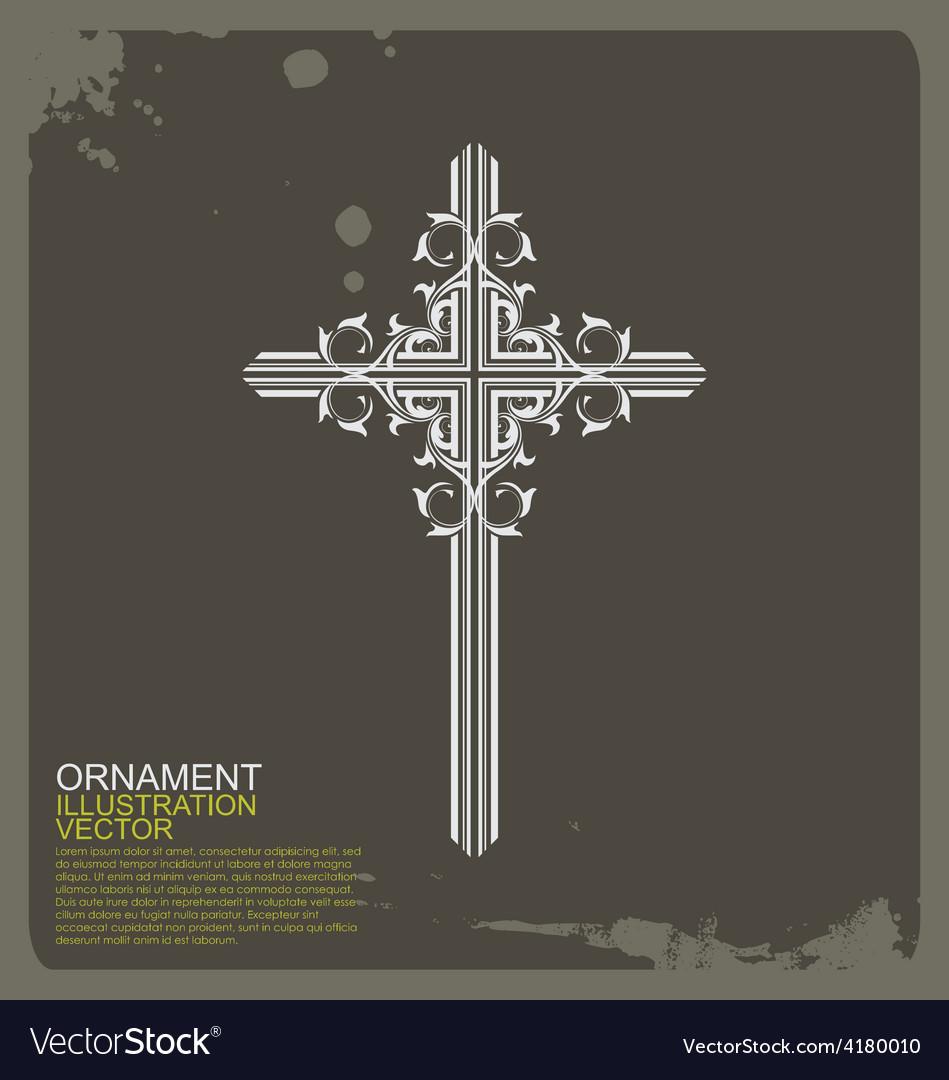 Cross Christian vintage ornament