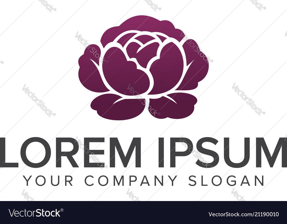 Flower logo spa and esthetics logo design concept