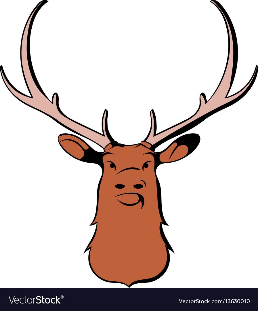 Head of deer icon cartoon