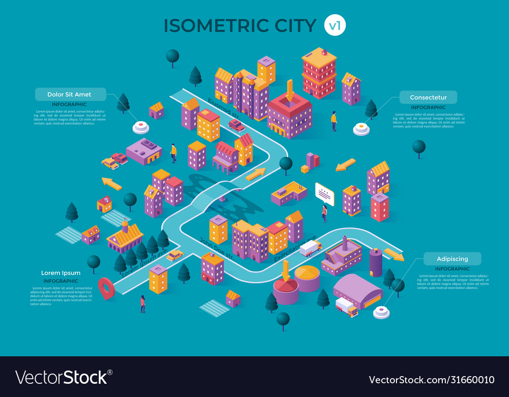 Isometric city template