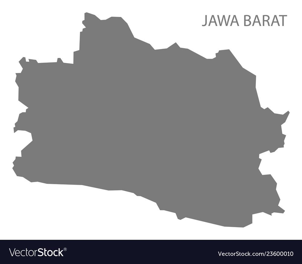 Jawa barat indonesia map grey