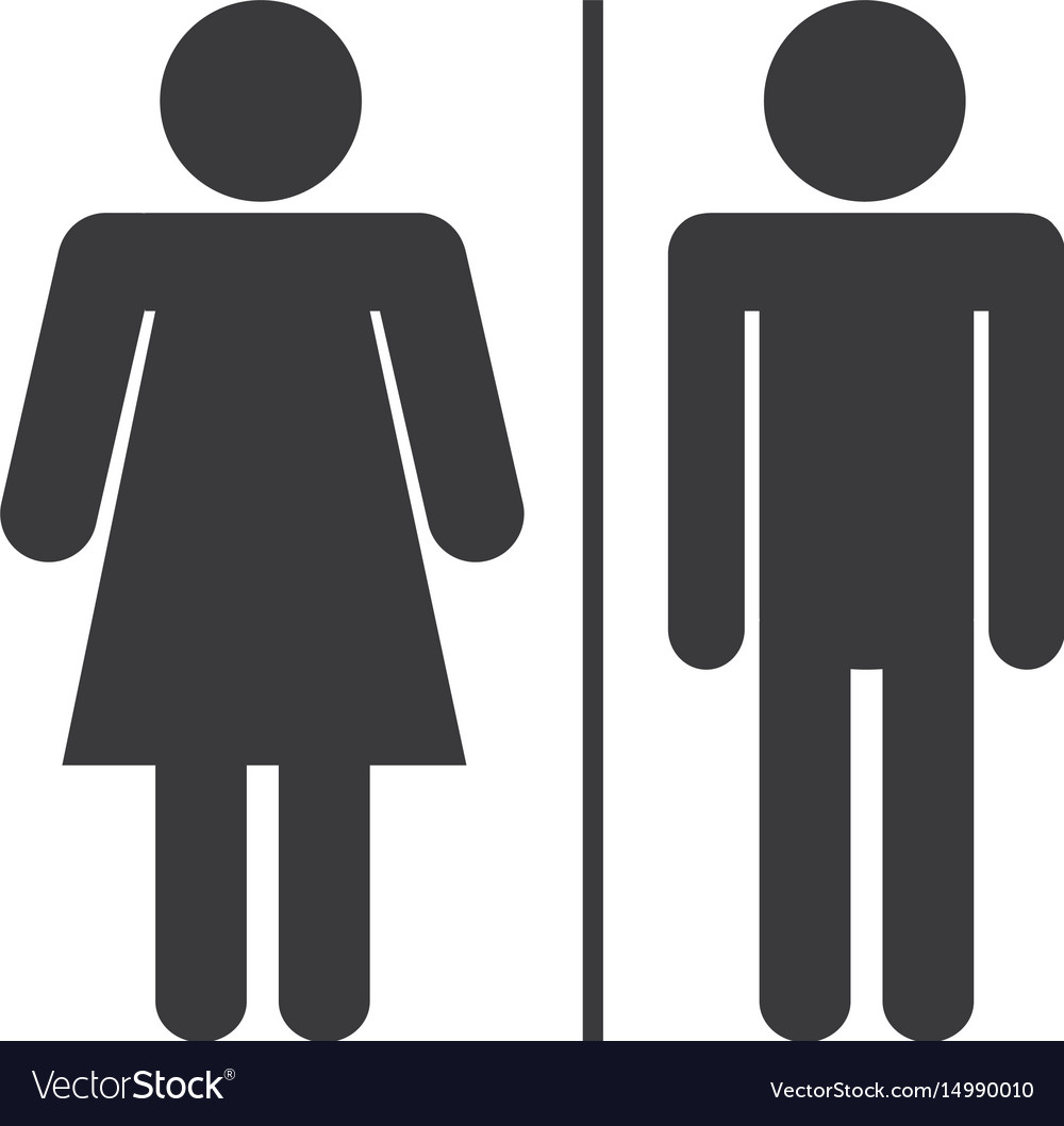 Pictogram woman and man icon