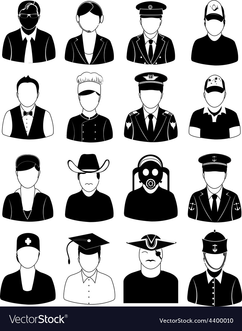 Professional people icons set