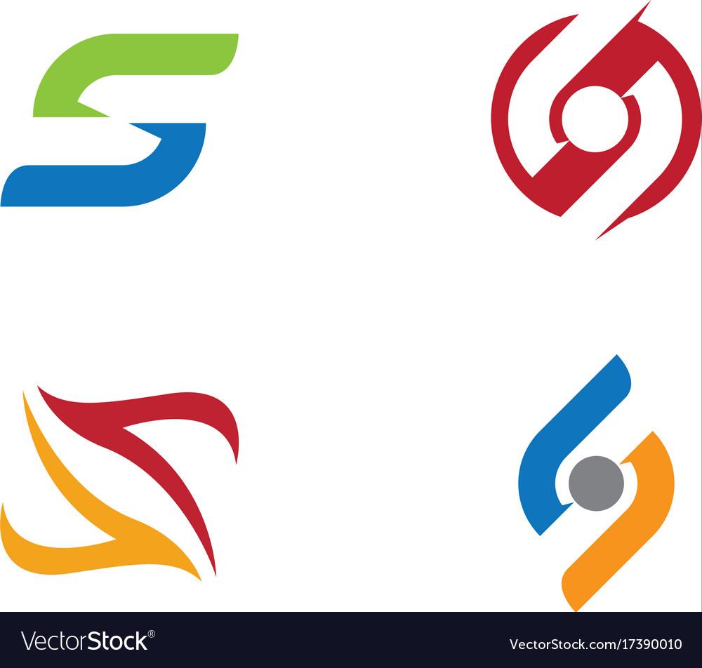 S letter logo template design