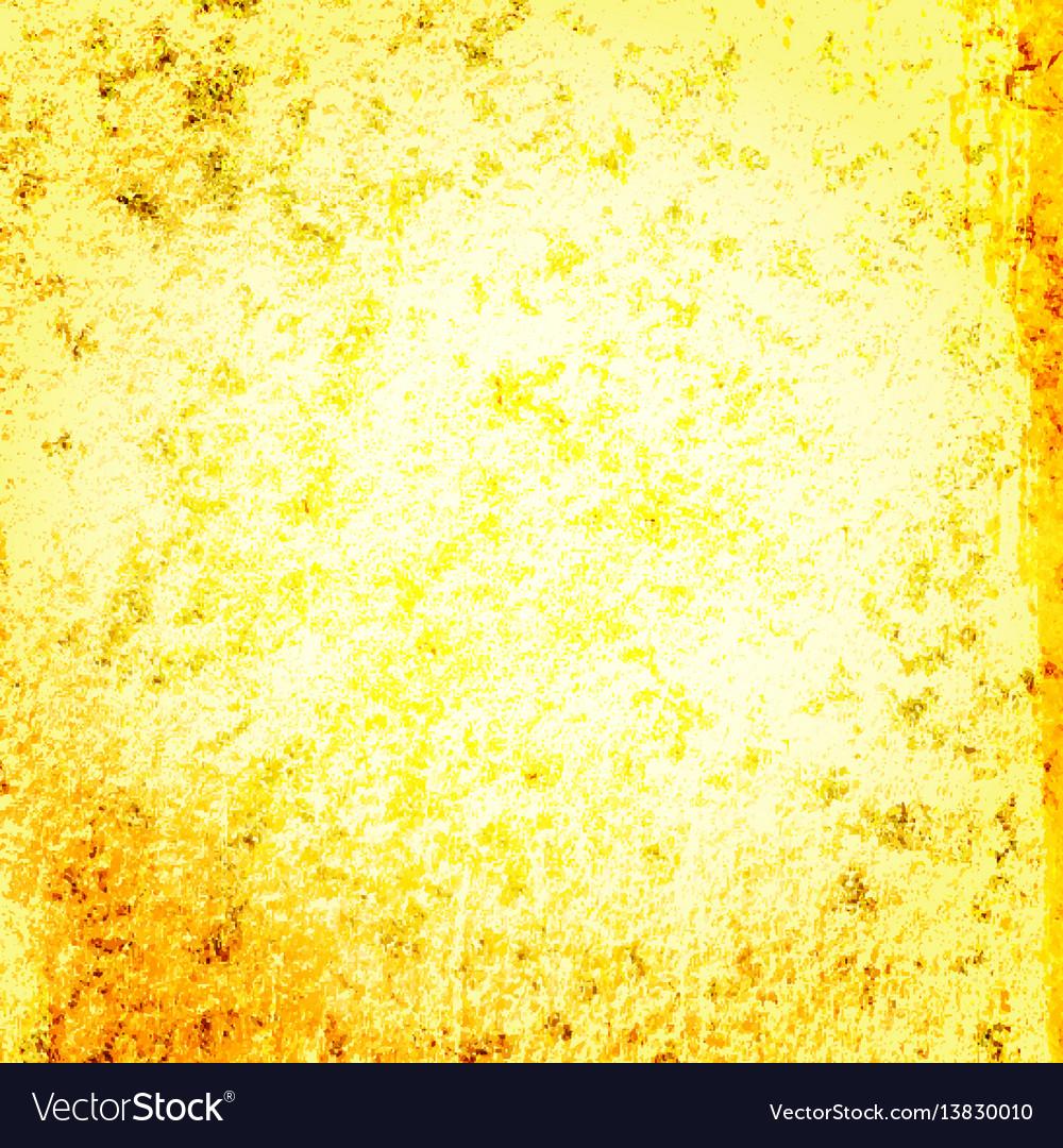 Yellow gold grunge backgroun