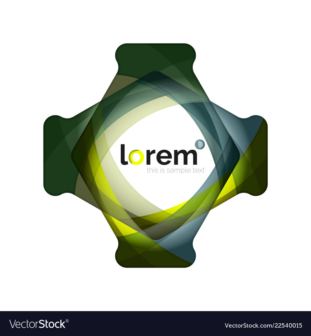 Abstract geometric logo design overlapping shapes