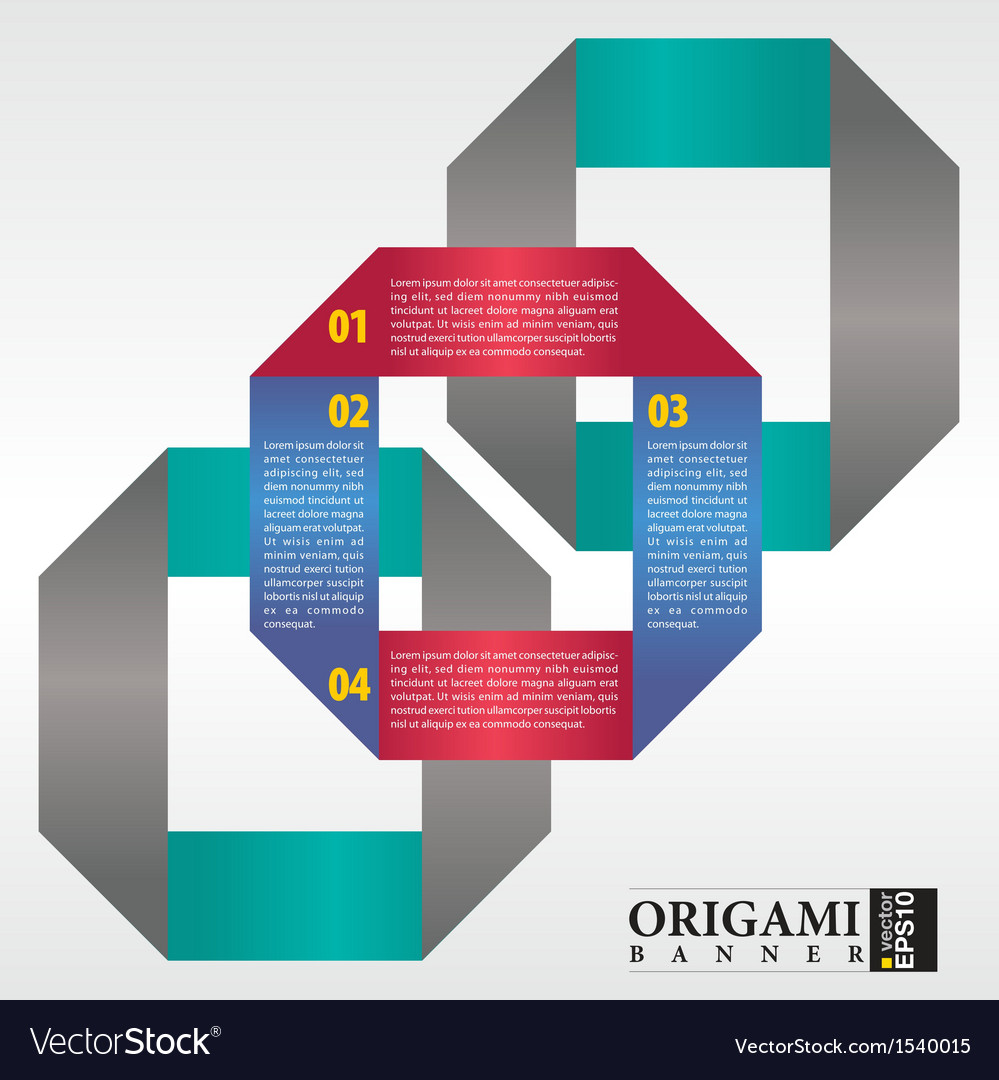 Abstract origami banner EPS 10