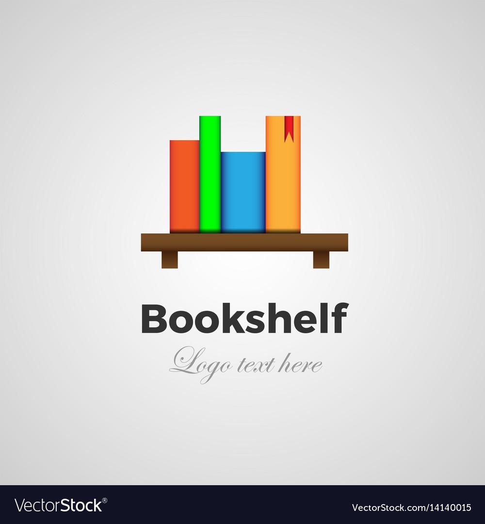 Bookshelf logo concept