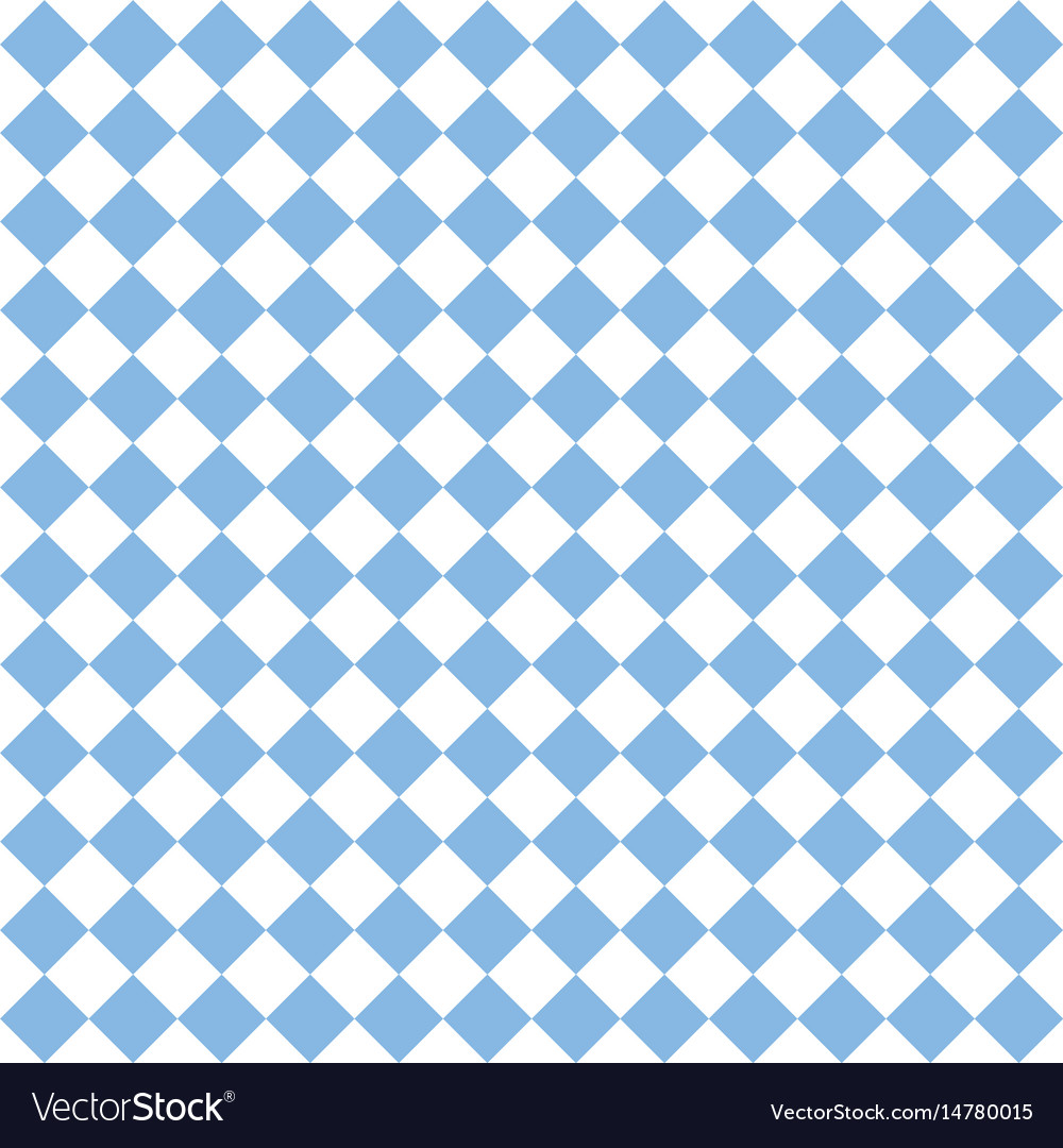 Checkered Tile Pattern Or Blue And White Wallpaper Vector Image