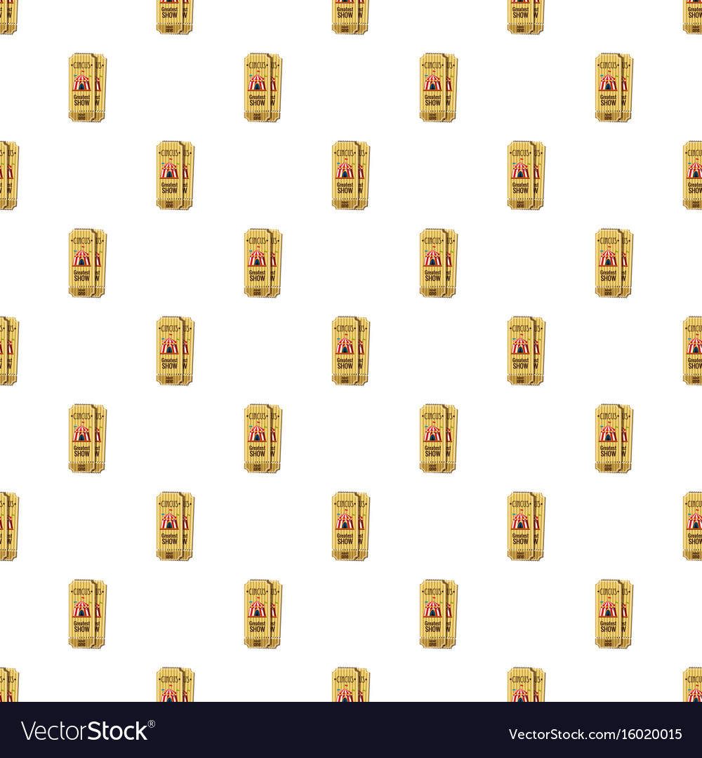Circus tickets pattern vector image
