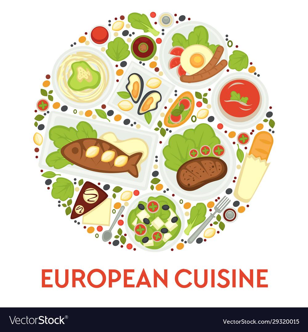 European food menu cuisine europe meals and