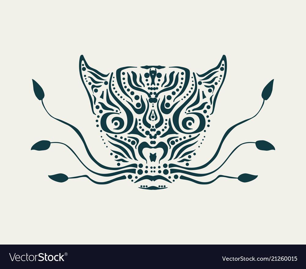 Ornamental animal tattoo