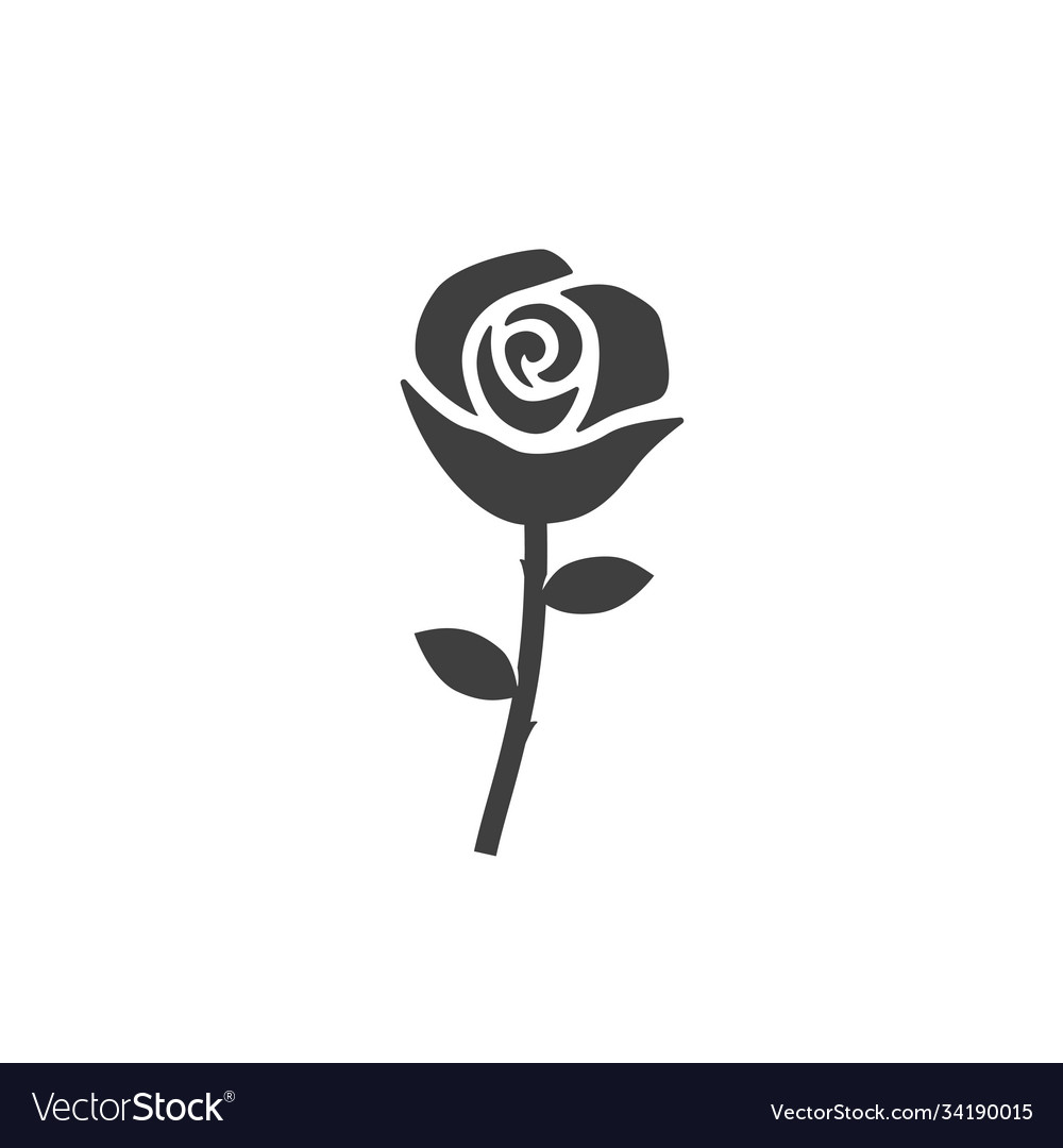 Rose icon images on white background