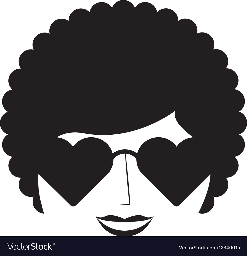Woman character afro style