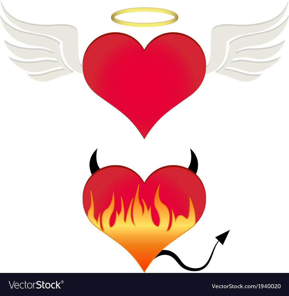 Angel-devil heart