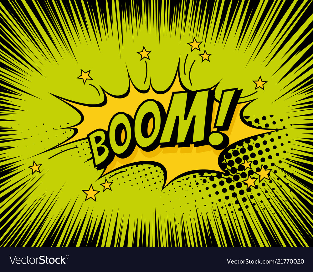 Background with boom comic book explosion
