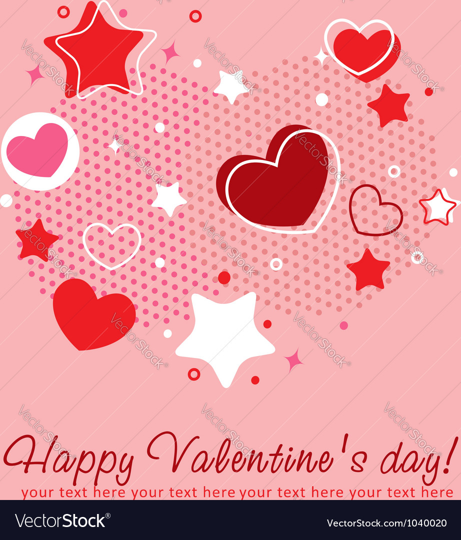 cute valentine love congratulation card royalty free vector