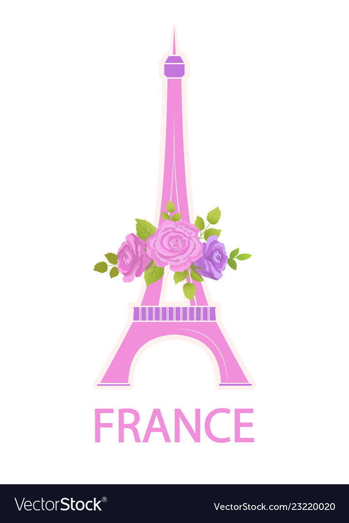Eiffel tower travel famous world sight and flowers