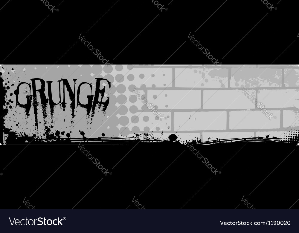 Grunge brick banner vector image