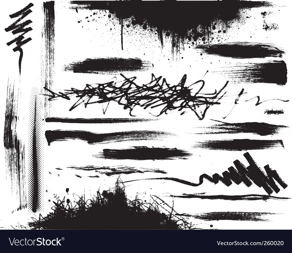 Grunge strokes vector image
