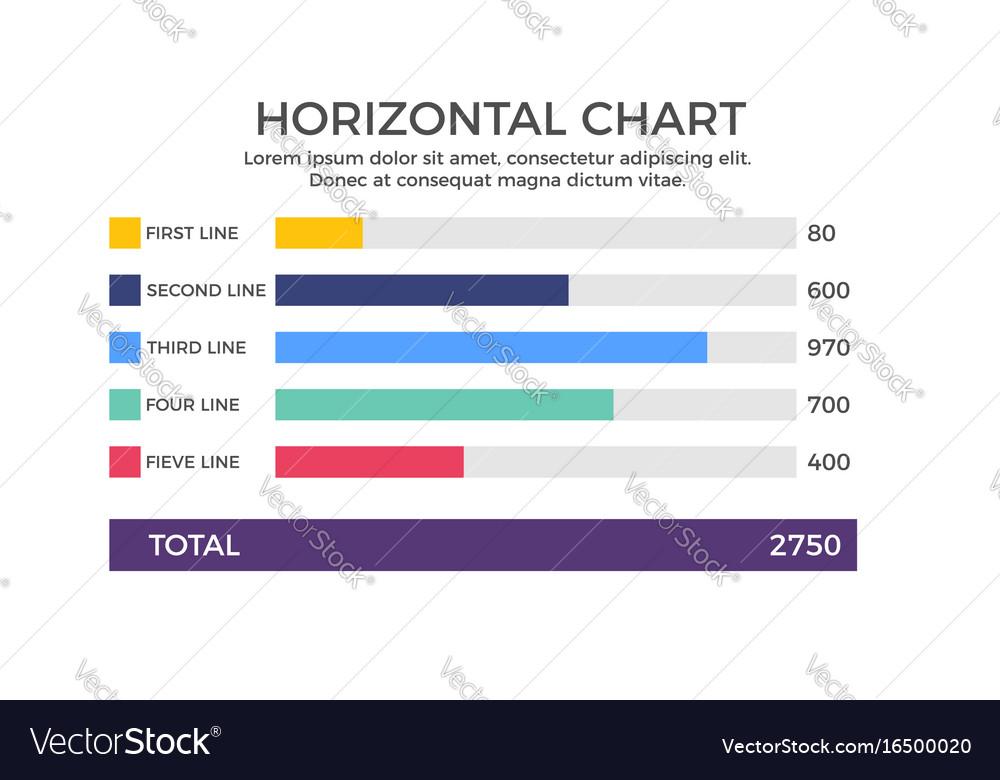 Horizontal chart infographic element
