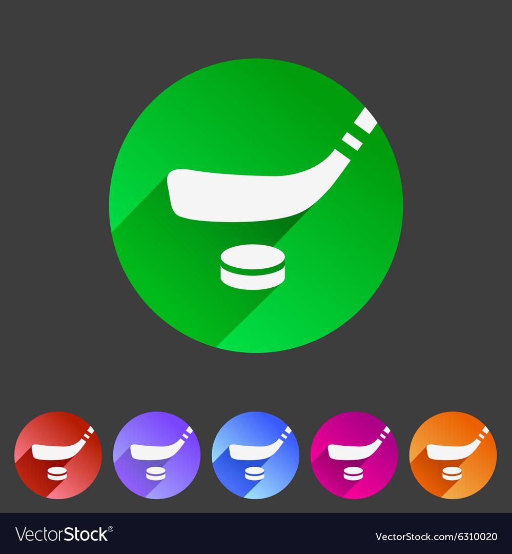 Ice hockey icon flat web sign symbol logo label