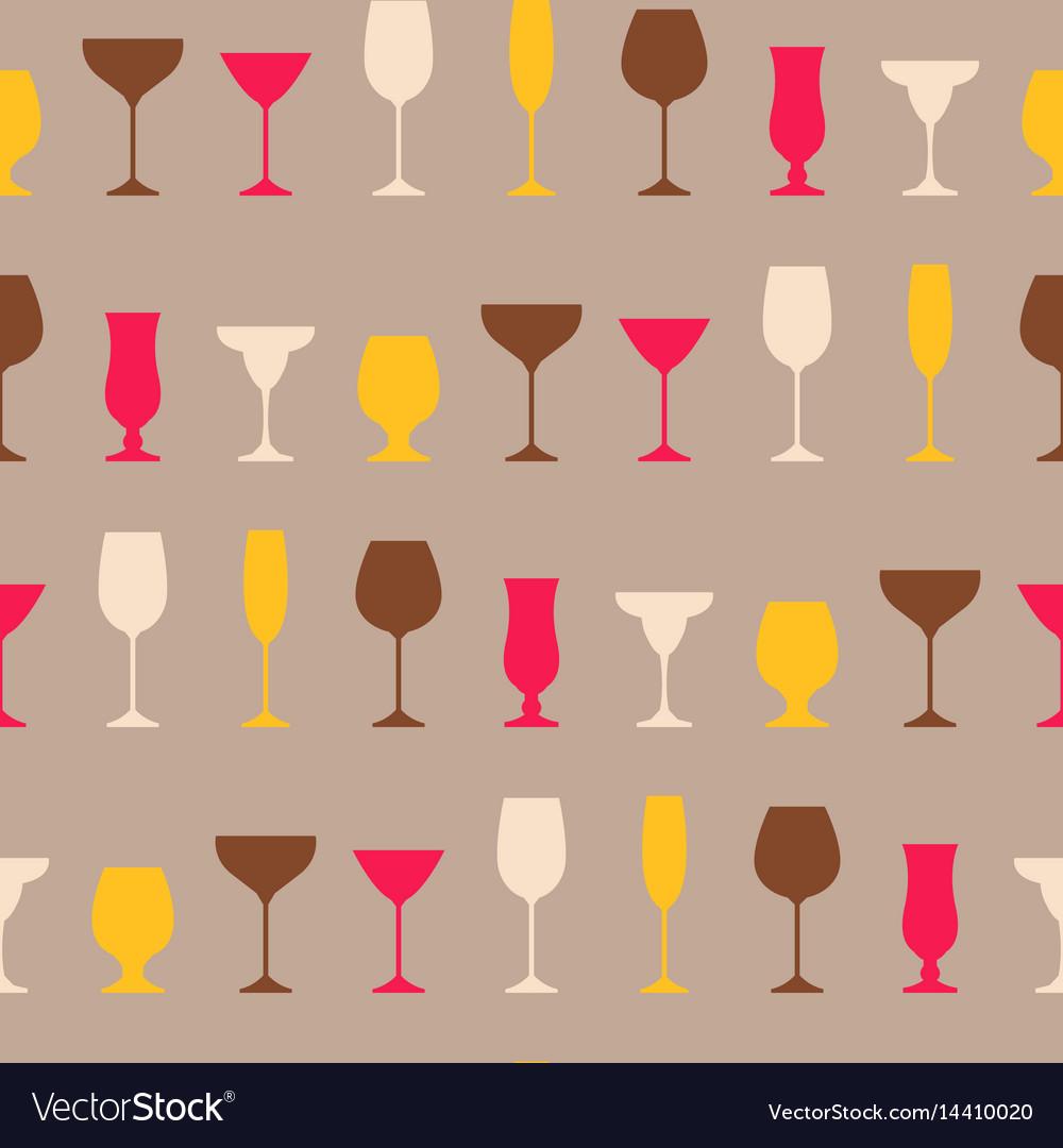 Seamless pattern of wineglass background