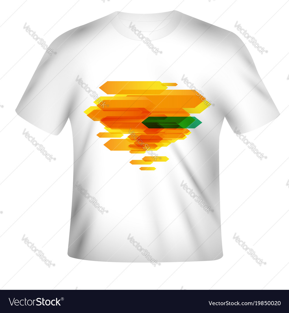 b9edcbbd T-shirt design with colorful design Royalty Free Vector