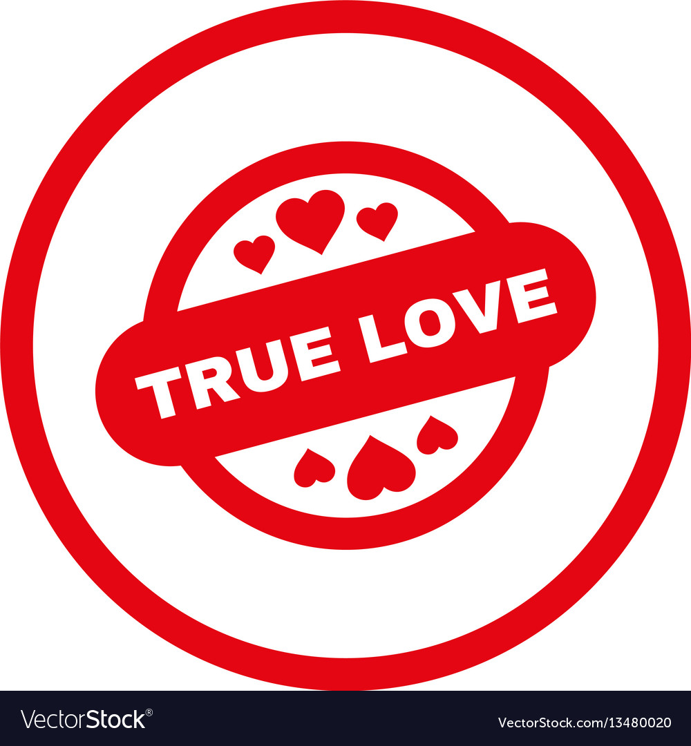 True love stamp seal rounded icon