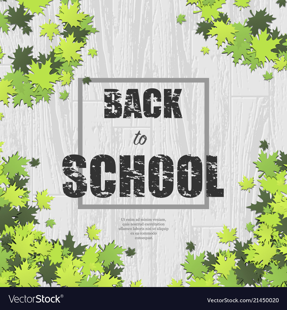 White wooden school background