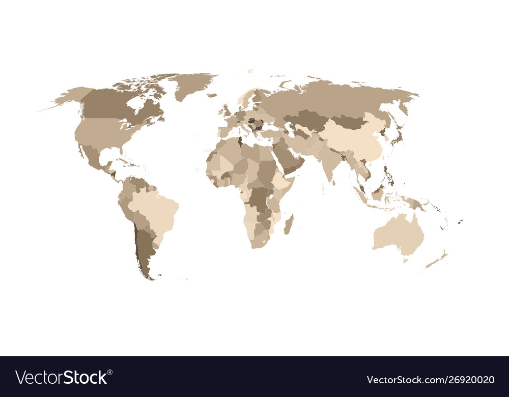 World map divided countries
