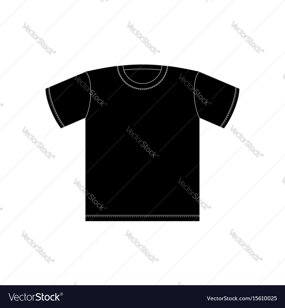 black t shirt template isolated clothing on white vector image rh vectorstock com black t shirt vector template black t shirt vector
