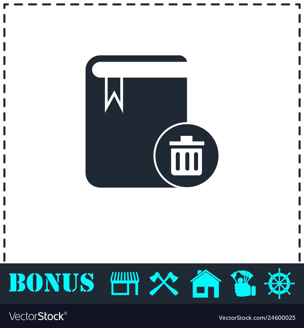 Book icon flat