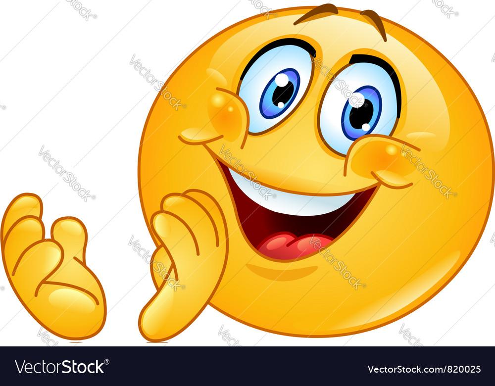 Clapping emoticon vector image